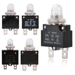 1X 5A/10A/15A/20A/30A автоматический выключатель, 12 В/24 В, кнопка, сменный тепловой выключатель, панель, крепление с водонепроницаемой крышкой