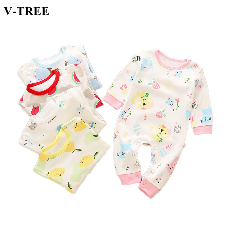Spring Autumn Newborn Clothes Baby Romper Long Sleeve Romper For Babies Jumpsuit Girls Boys Toddler Products Clothing