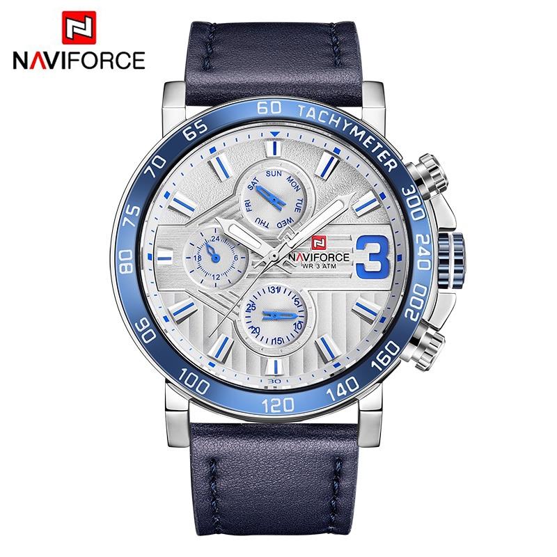 NAVIFORCE Luxury Brand Watches Men Sport Wristwatch Fashion Casual Quartz Waterproof 24 Hour Week Date Clock Relogio Masculino все цены
