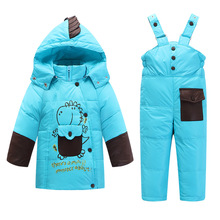 C902 Baby Long Fur Snowsuit Animal Lovely Hooded Parka Baby Boy Clothes Girl Coats And Jackets winter Down Snow Overalls infant