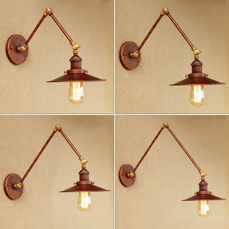 Loft Style Swing Arm Edison Wall Sconce Bedside Wall Lamp Iron Vintage Wall Light Fixtures For Home Indoor Lighting Lampara vintage wall lamp indoor lighting bedside lamps wall lights for home