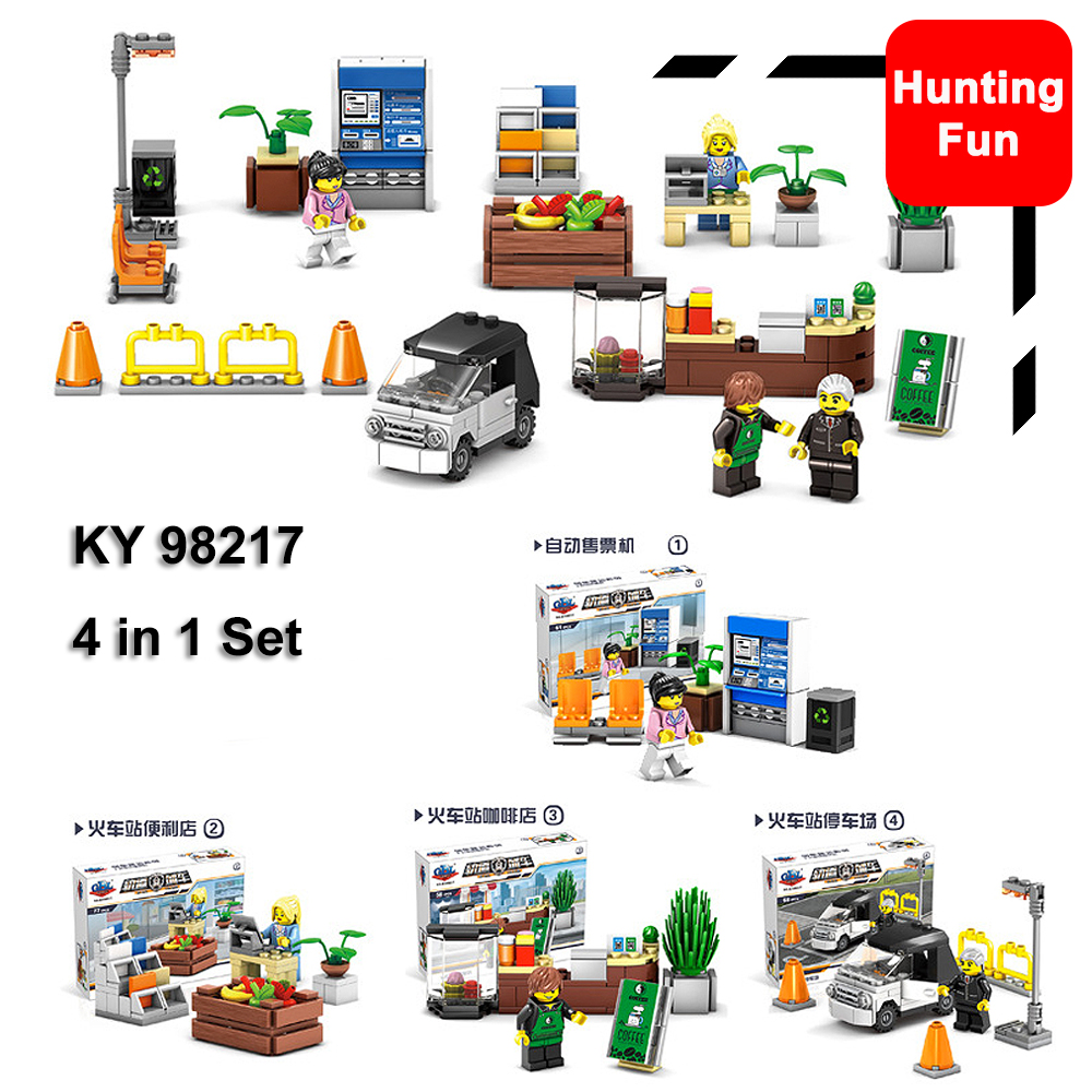 4in1 Set KY98217 Train Station Coffee store vending machine CVS ...