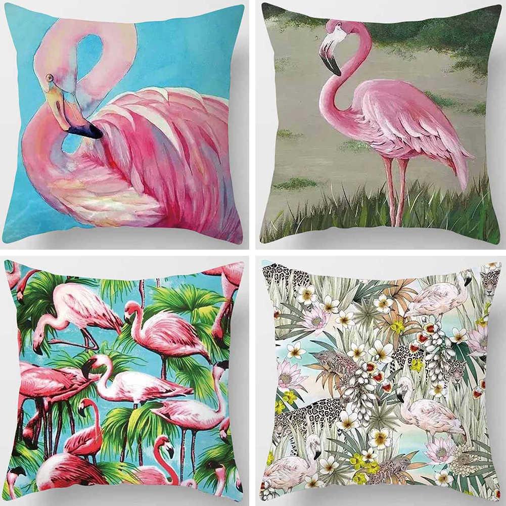 Сладкий Фламинго дизайн пледы наволочки Чехлы для подушек дома диван Кафе Декор автомобиля Прямая доставка 45 см x см