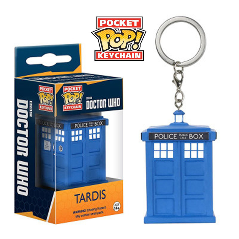 Funko POP 4cm Cute DOCTOR WHO TARDIS Pocket Pop Keychain Toy Doll Pvc Action Figure Collection Toys For Children With Retail Box