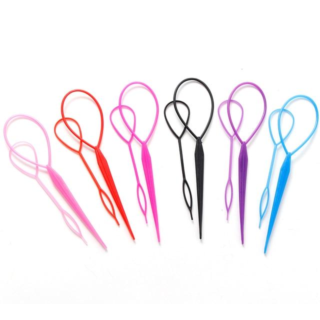 2PCS/Lot Fashion Colorful DIY Hair Styling Headbands For Girls Hair Pin Disk Pull Pins Hair Bands Headwear Kids Hair Accessories 3