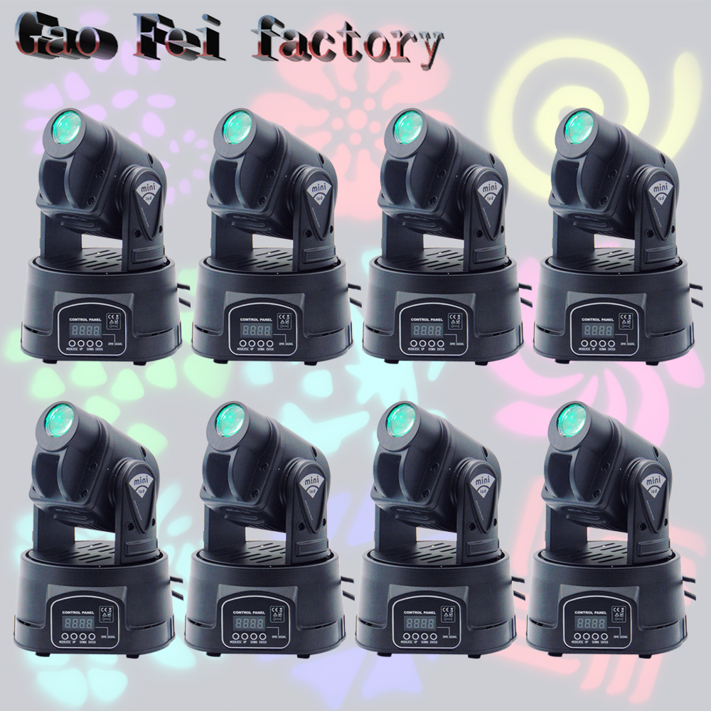 8pcs/lot Wedding Gobo Light 15W Moving Head Light RGB 3 in 1 LED Projector Moving 10w 3 series 3 in parallel integrated 9 led rgb light source module silver