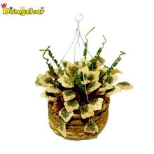 Miniature Accessories Mini Hanging Flower Basket Simulation Potted Plants Model Toys Decoration For 1/12 Dollhouse WWP7167(China)