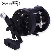 Sougayilang מלוחים דיג סלילי TSSD 3000L-4000L חכות תוף סליל יד ימין שחור ים דגי