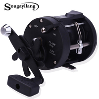 Sougayilang Saltwater Fishing Reels TSSD 3000L 4000L Trolling Drum Fishing Reel Saltwater Right Hand Black Sea Fish Reel