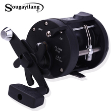Sougayilang Reel Fishing TSSD 3000L-4000L Black Right Hand Casting Sea Fishing Reel Saltwater Baitcasting Coil