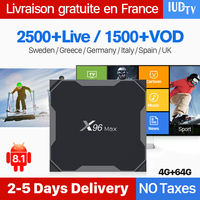 Android Set Top Box Europe IPTV Spain IUDTV X96 Max 4+64G Dual Band WiFi Support BT Android 8.1 S905X2 Turkish Albania IPTV Box