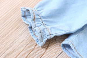Image 5 - מזדמן תינוק בנות ינס חולצות ארוך שרוול רך ילדי ג ינס חולצה כותנה ילדים של ג ינס צמרות תלבושות 2 8 שנים