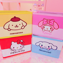 Cartoon Hello Kitty My Melody Cinnamoroll Pudding Dog Cute Cosmetic Cases Woman Makeup
