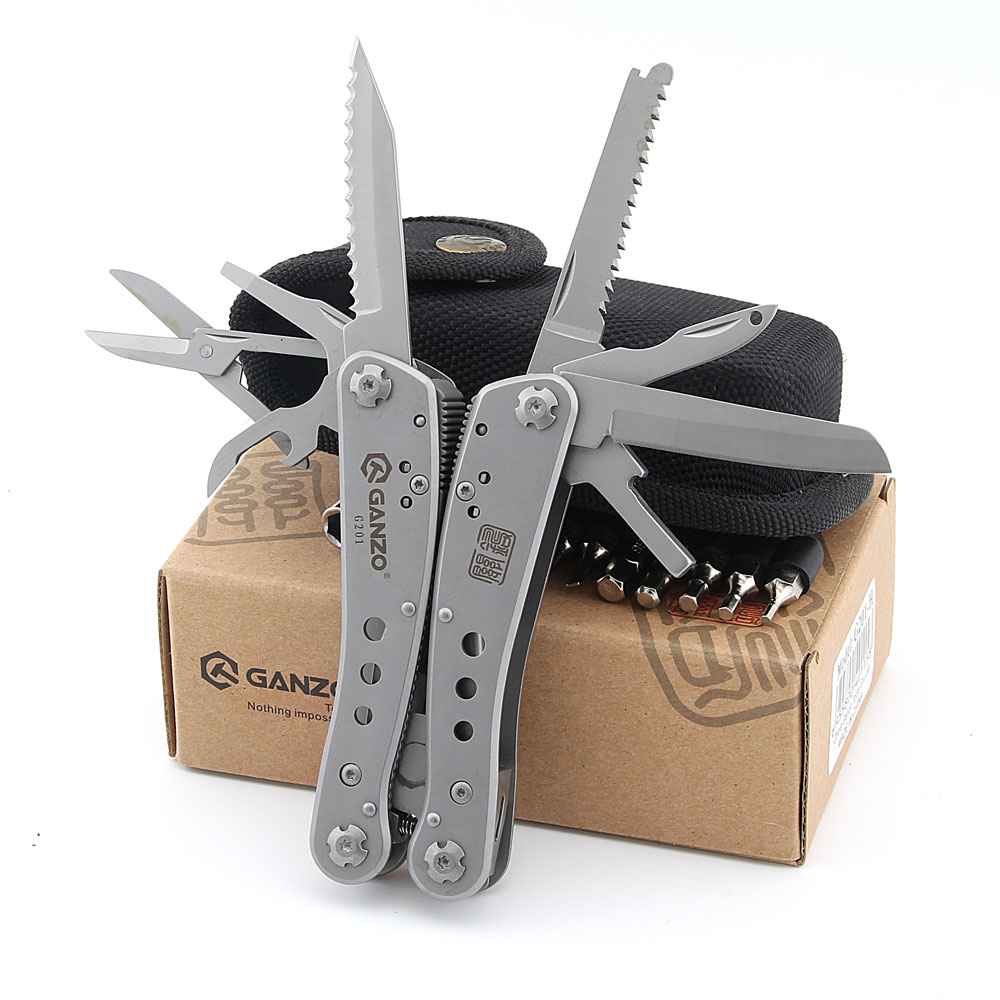 Ganzo G201 22 in1 Multi Pliers Outdoor Multi Tool Camping Tool w/ Nylon pouch & Gift Box