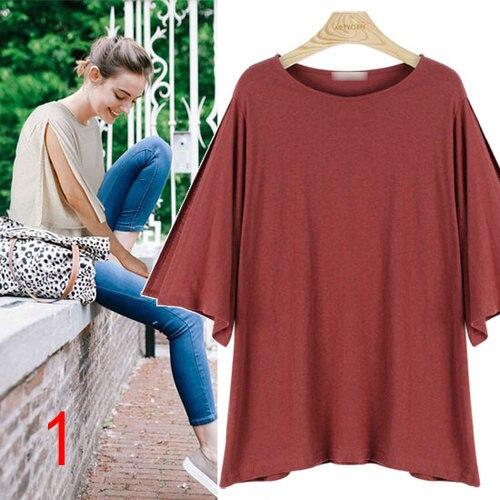 J60017 Women Chiffon Shirt Casual Loose Half Sleeve office lady Fashion Work Wear Ladies Office Shirts Plus Size
