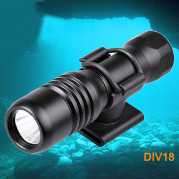 Underwater Dive Mask Flashlight Torch Light CREE XM-L2 Mini Torch Multi-function light with Battery and charger 360 Rotate Mount