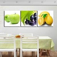 2017 Tijd beperkte Nieuwe 3 Stuks Voor Apple Voor Citroen Fruit Moderne Wall Art Opknoping Op Keuken Eetkamer Decor In Hoge Kwaliteit