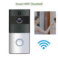 Smart Wireless IR Audio WiFi Visual Doorbell Video Home Security 166Degree PIR Motion Detection Night View Doorbell Ring