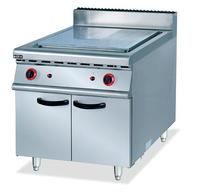 Super quality commercial stainless steel gas griddle with cabinet 1/3 grooved griddle equipment wholesale factory