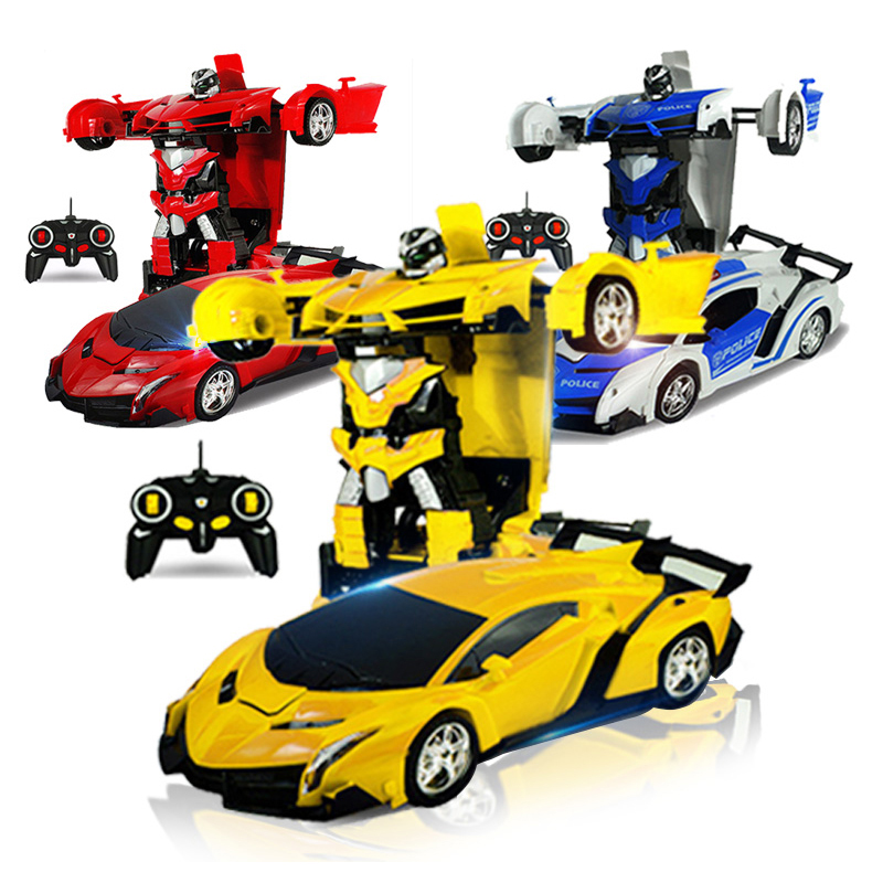 2 In 1 Rc Car 1:18 Sport Models Rc Robots Deformation Radio-controlled Car Bumblebee Remote Control Toy for Children Boys microgear radio controlled rc grasshopper flying in the air