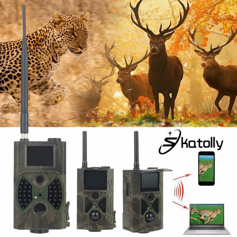 Skatolly Brand 1*HC300M HD Hunting Trail Camera Scouting Infrared Video GPRS GSM 12MP Dropshipping Hunting Cam + Free shipping! ...