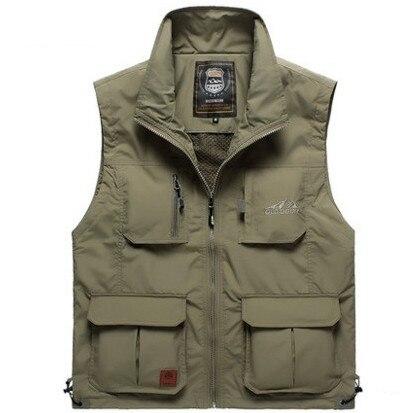 2019 Spring Summer vests man casual brand reporter shoot jacket coat Pocket Cargo Military Jacke