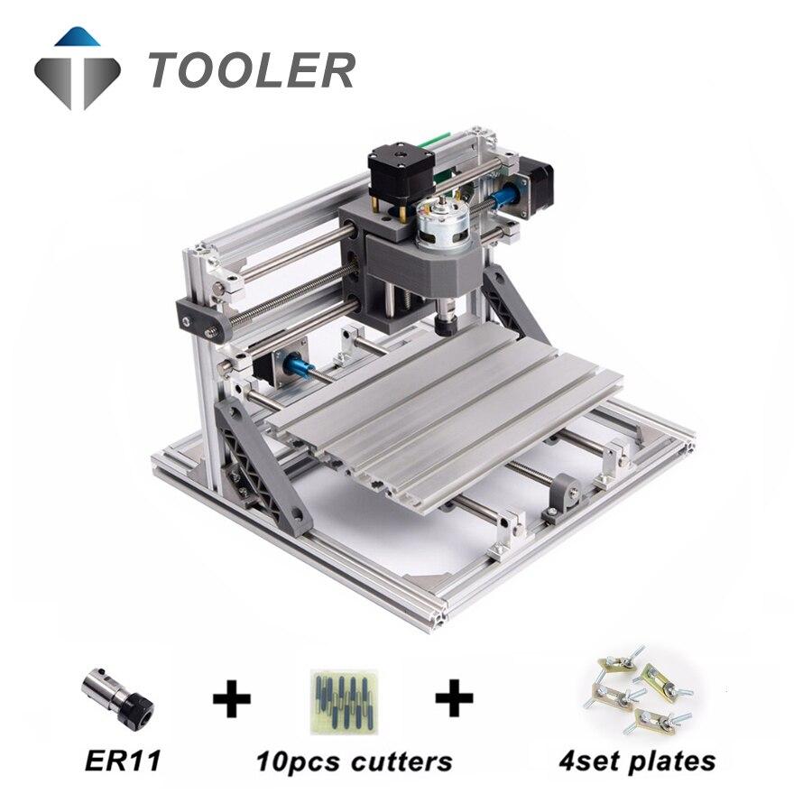 CNC1610 avec ER11, mini cnc laser machine de gravure, Pcb Fraiseuse, Machine de Sculpture Sur Bois, cnc routeur, cnc 1610, jouets cadeau