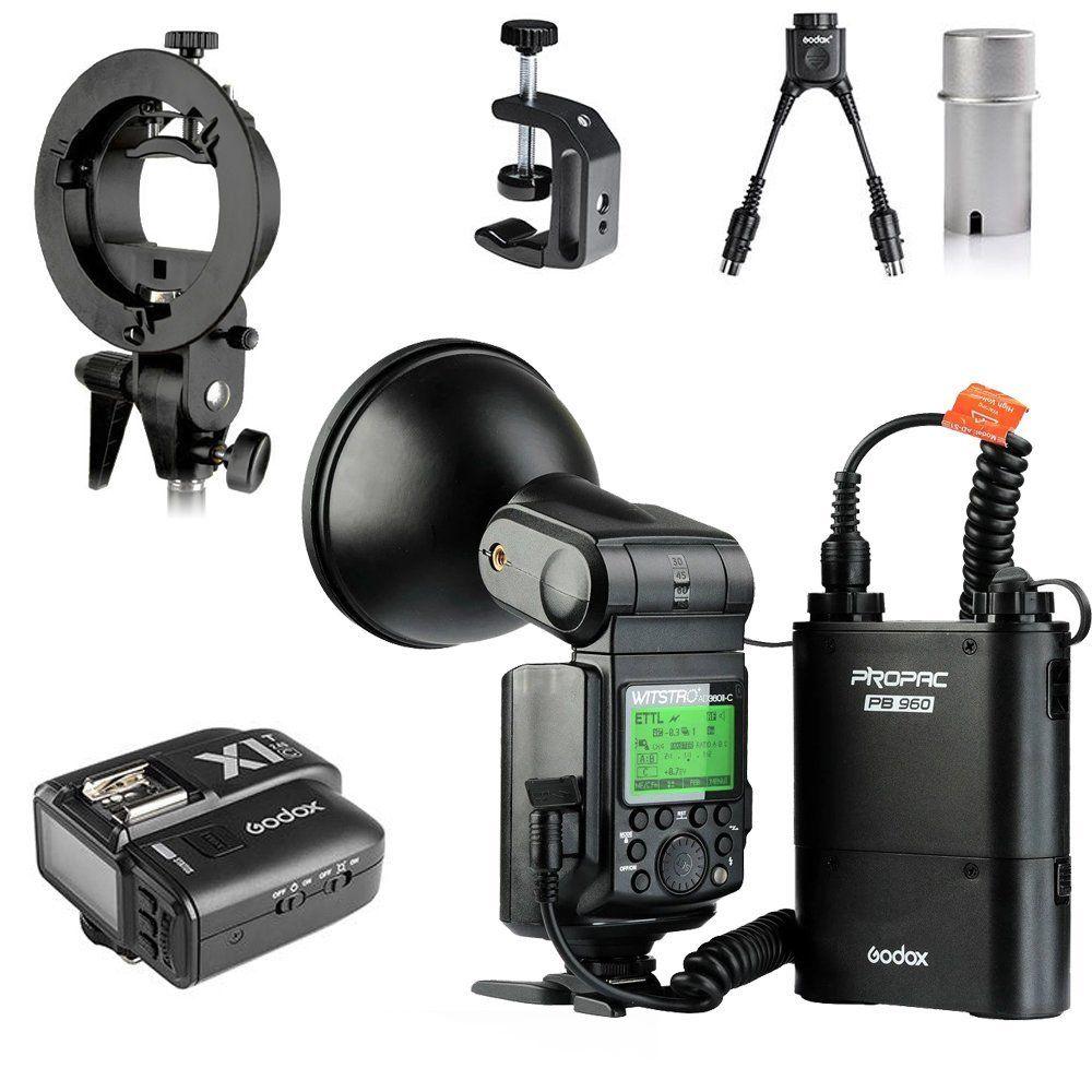 цена на Godox Witstro AD360II+PB960 TTL On/Off-Camera Flash Speedlite + X1T-C Wireless Trigger For Canon 5D MARK III 650D 600D