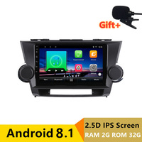 9 2+32G 2.5D IPS Android 8.1 Car DVD Multimedia Player GPS For Toyota Highlander 2009 2010 2011 2014 radio stereo navigation