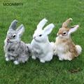 Новые 3 вида милых животных Пасхальный Кролик Имитация пушистый кролик приседание Рождество День рождения подарок для дома свадебное украш...