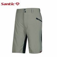 Santic Cycling Shorts Men Loose Fit Downhill MTB Shorts Two Fabric Elastic Waist Road Mountain Bike Shorts Riding US SIZE M-3XL цена