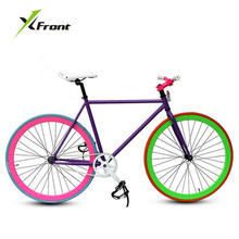Original X-Front brand fixie Bicycle Fixed gear bike 46cm 52cm DIY single speed road bike track fixie bicycle fixie bike