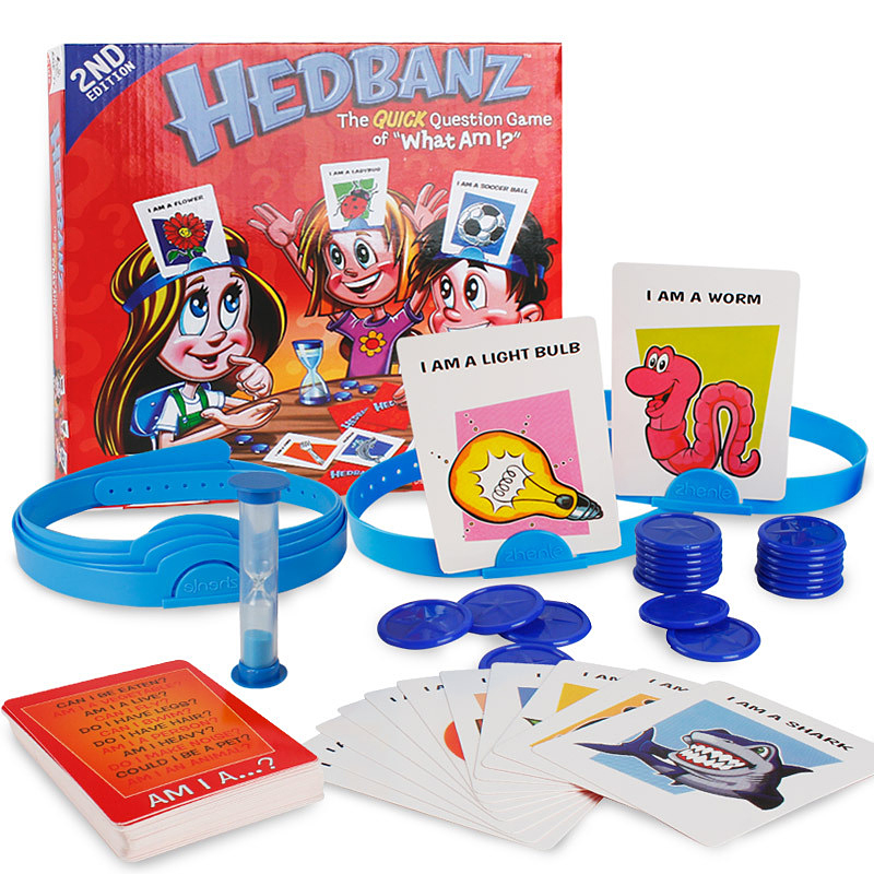 Novelty Family Funny  Toys HedBanz Game Edition May Vary The Quick Question Of What Am I Board Game Guess Who