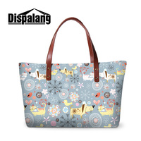 Dispalang brand designer animals print fashion women's handbags girls classic cartoon totes ladies evening party top-handle bags
