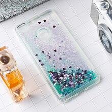 Dynamic Liquid Case For Huawei P8 P9 Lite 2017 P10 PLUS Case Glitter Bumper Honor 8 Lite Pro 6X 4x Nova Mate 9 Covers