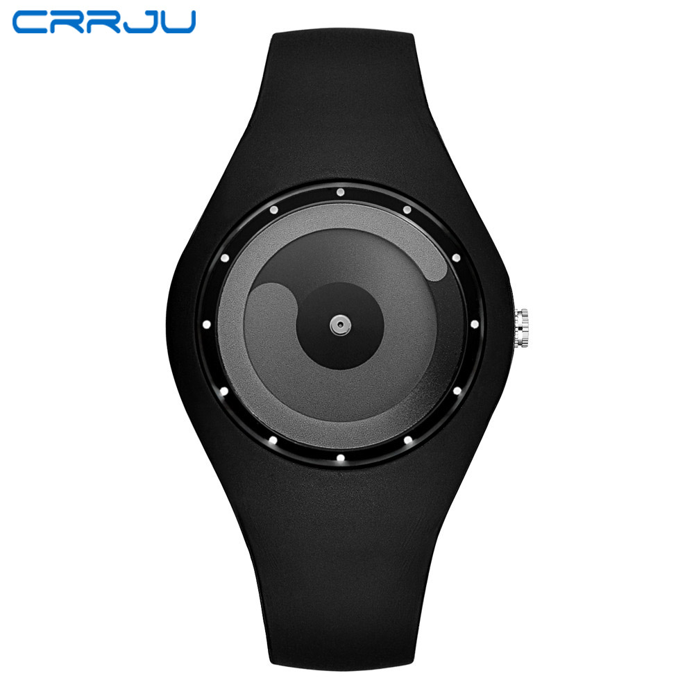 CRRJU Silicone Women Watch Colorful Fashion Casual Cute Quartz Wristwatch Men Student Sport Creative Watches Dropshipping Clock
