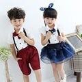 2015 chegada nova chaves macacão conjuntos de roupas de bebê menino e menina magro suspender venda quente