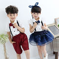 2015 new arrival brand new braces baby boy and girl rompers clothing sets unisex skinny suspender hot selling