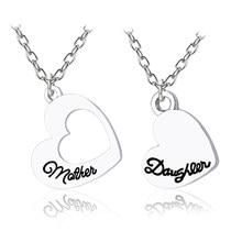 a4cadaf4ce8a Moda amor corazón collar madre hija hueco corazones colgante familia plata  collares y colgantes para mujeres regalos Drop Shippi.