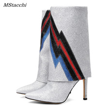 Mstacchi Bling Striped  Boots