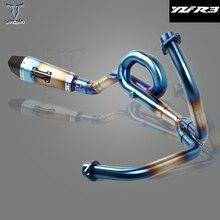 Выхлопная труба, глушитель средней длины для Yamaha YZF R3 YZFR3 2014 2015 2016 мотоцикла, полная выхлопная система, труба средней длины