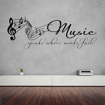 Tabs Note Lettering Quotes Removable Wall Sticker for Music Living Room Art Decoration Vinyl Decals Poster Stickers SA32 1