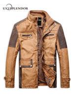2018 Motorcycle Warm Men Leather Jackets Casual Winter Spring Autumn Man Cool Bomber Jacket Male Streetwears Slim Coats YN10321