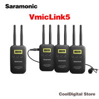 Saramonic VmicLink5 5.8GHz Wireless Microphone System 3 Transmitters & 1 Receiver for Canon EOS Nikon D3300 DSLR Camera