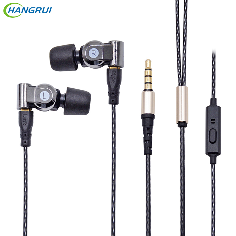 HANGRUI XBA 6in1 1DD+2BA Earphone Hybrid 3 Drive Unit In-Ear Headset DIY DJ HIFI Earphones With MMCX Interface Earbud for phones 2016 senfer 4in1 ba with dd in ear earphone mmcx headset with upgrade cable silver cable hifi earbuds