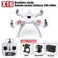 Lo nuevo Bayang X16 motor Sin Escobillas FPV Drone Headless Modo 300 M Distancia con Cámara de 2MP Wifi O 4 K Cámara Rc Quadcopter VS X101