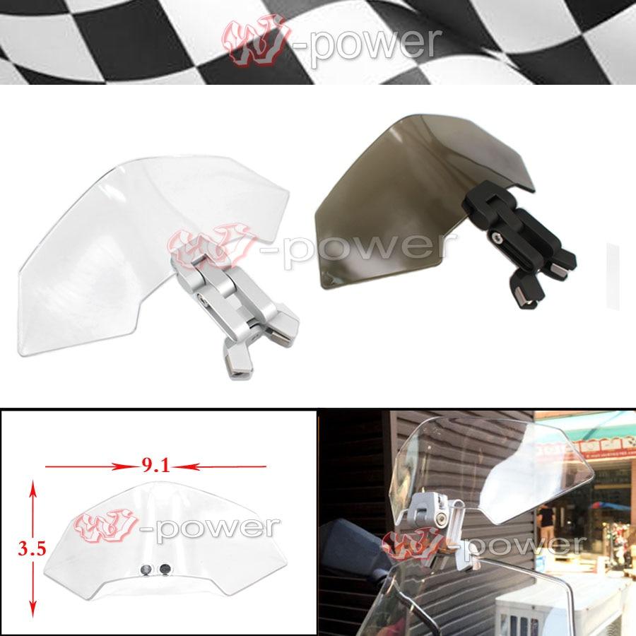 Universal Motorcycle Windshield Airflow Adjustable Windscreen extension Deflector Windshield Spoiler small