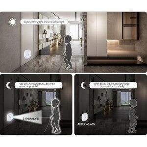 Image 5 - 10LEDs Night Light Infrared PIR Motion Sensor Wireless Light for bedroom Wall Lamp Auto On/Off LED night light