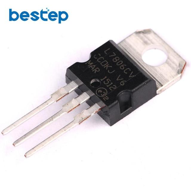 20pcs l7806cv l7806 7806 6v 1 2 1 5a voltage regulator to 220 in