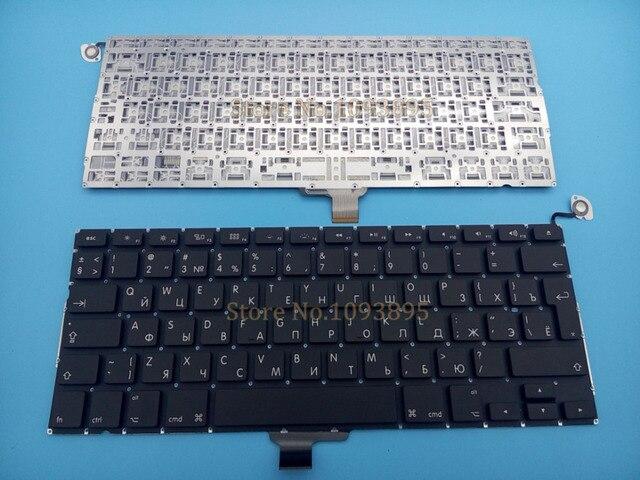 """Novo teclado russo para apple macbook pro 13 """"13.3 uniaa1278 unibody mc700 mc724 md313 2009 2013 ano portátil teclado russo"""